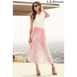 LK Bennett Sasoona Pleated Midi Skirt